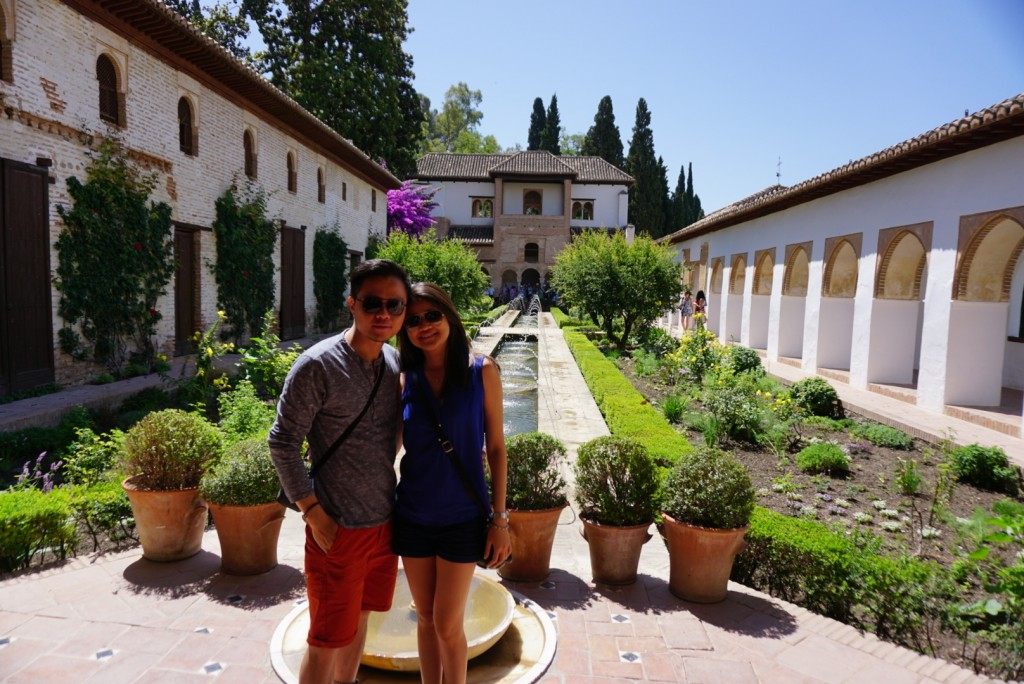 Us at one of the many beautiful coutyards of Nasrid Palace in Alhambra