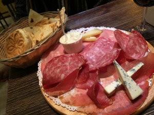 Bologna salumi platter