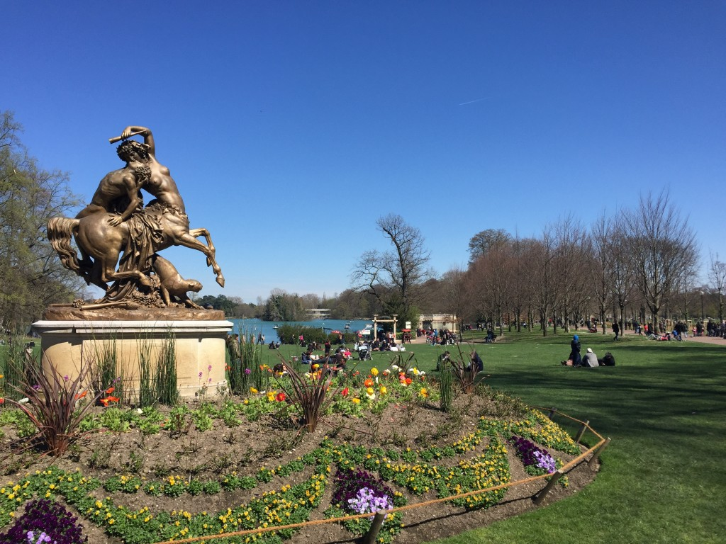 Parc de la Tete D'Or - Biggest and grandest park in Lyon with a huge man made lake for boating in Spring / Summer